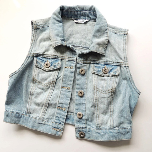 Highway Jeans Jackets & Blazers - Denim Vest, light blue,  size medium